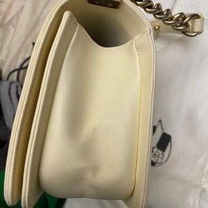 CHANEL Bags - !sold! Chanel boy medium ivory gold hardware